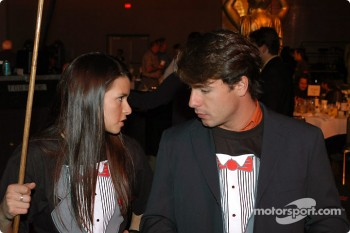 Danica Patrick and Oriol Servia