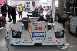 ALMS Audi R8 car ready for demonstration laps
