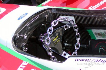 New steering wheel for Michel Jourdain Jr.