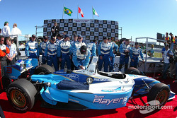 The winning car and the winning team