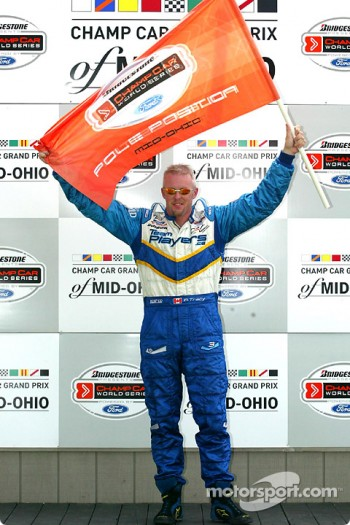 Pole winner Paul Tracy