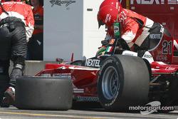 Roberto Gonzalez retires late in the race
