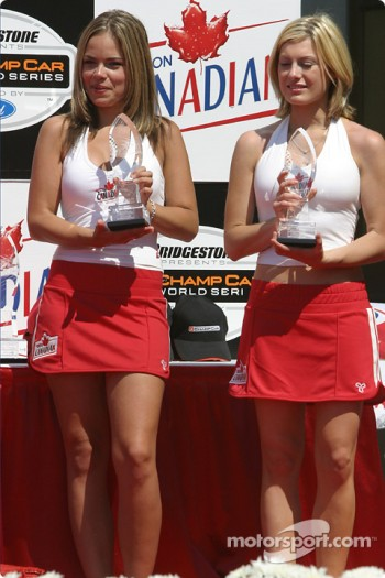 The lovely podium hostesses