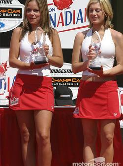 The lovely podium hostesses
