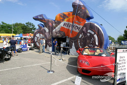 Repsol display on Thurder Alley