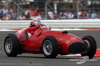 Fernando Alonso in the Ferrari 375 F1, now owned by Bernie Ecclestone