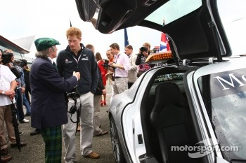 Sir Jackie Stewart with Prince Harry