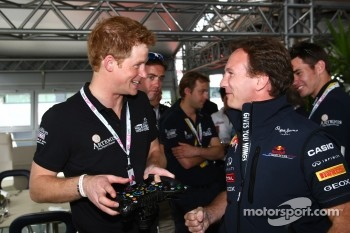 Prince Harry with Christian Horner, Red Bull Racing, Sporting Director