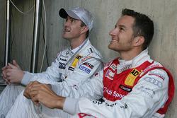 Ralf Schumacher, Team HWA AMG Mercedes C-Klasse and Timo Scheider, Audi Sport Team Abt Audi A4 DTM