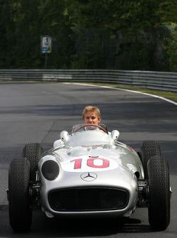 Nico Rosberg, Mercedes GP drives the 1956 Mercedes W196