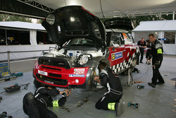 MINI WRC Team service area