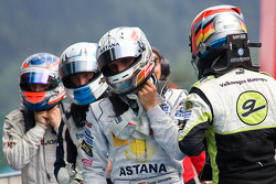Roberto Merhi, Daniel Juncadella Rupert Svendsen-Cook and Kevin Magnussen