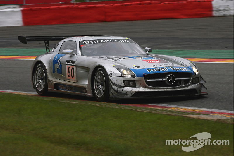 #90 Team Preci Spark Mercedes SLS AMG: David Jones, Godfrey Jones, Mike Jordan