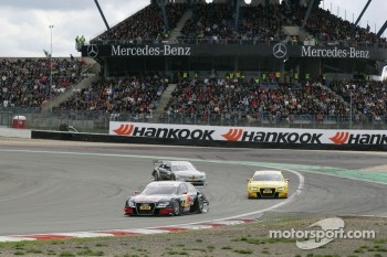 Mattias Ekström, Audi Sport Team Abt Audi A4 DTM, Mike Rockenfeller, Audi Sport Team Abt Audi A4 DTM