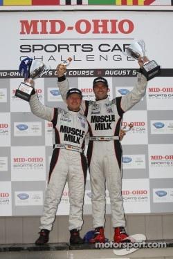 LMP podium: class and overall winners Lucas Luhr and Klaus Graf