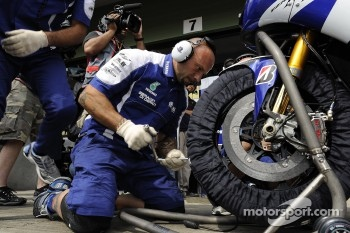 Yamaha team members at work