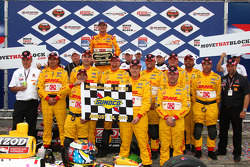 Podium: race winner Ryan Hunter-Reay, Andretti Autosport