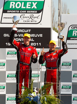 DP podium: class and overall winners Alex Gurney and Jon Fogarty