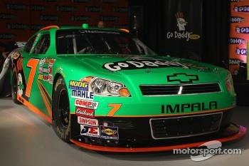 The #7 GoDaddy.com Chevrolet is unveiled