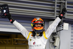 Romain Grosjean celebrates winning the 2011 GP2 Series title