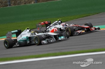 Nico Rosberg, Mercedes GP F1 Team and Jenson Button, McLaren Mercedes