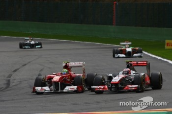 Felipe Massa, Scuderia Ferrari and Jenson Button, McLaren Mercedes