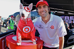 Dario Franchitti, Target Chip Ganassi Racing with Bullseye, the Target dog