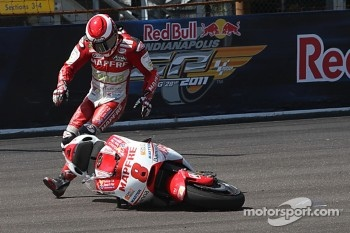 Hector Barbera, Mapfre Aspar Team MotoGP crashes