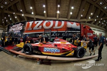 Car of Marco Andretti, Andretti Autosport at tech inspection