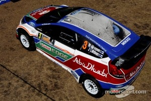 The Roof Design of Mikko Hirvonen's Ford Fiesta RS WRC, for the 2011 Rally Australia