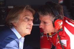 Luca di Montezemolo, Scuderia Ferrari, FIAT Chairman and President of Ferrari and Pat Fry Ferrari technical director
