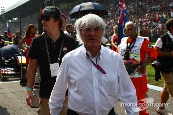 Nicky Hayden Motor GP rider and Bernie Ecclestone