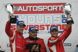 GTE Pro podium: class winners Gianmaria Bruni and Giancarlo Fisichella