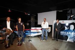 2011 GP2 Series Champion Romain Grosjean collects the GP2 Champion Trophy