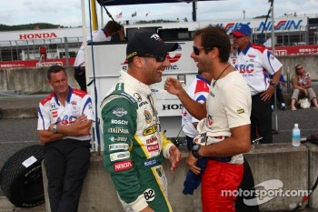 Tony Kanaan, KV Racing Technology-Lotus and Vitor Meira, A.J. Foyt Enterprises