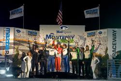 GTC podium: class winners Duncan Ende, Spencer Pumpelly, Peter Ludwig, second place Martin Ragginger, Carlos Kauffman, Henrique Cisneros, third place Nick Ham, Chris Thompson, Scott Blackett