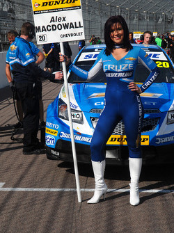 Caroline Hall, grid girl to Alex MacDowall