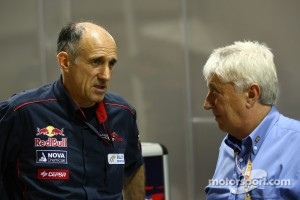 Franz Tost, Scuderia Toro Rosso, Team Principal with Charlie Whiting, FIA Safty delegate, Race director & offical starter