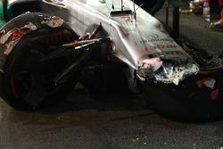 car of Michael Schumacher, Mercedes GP after his crash