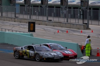 Start: #31 Ferrari of Ontario Ferrari F430 Challenge: Damon Ockey and #91 Ferrari of Ft. Lauderdale Ferrari F430 Challenge: Guy Leclerc