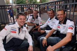 Petit Le Mans pre-race party: Anthony Davidson, Sébastien Bourdais, Stéphane Sarrazin, Alexander Wurz