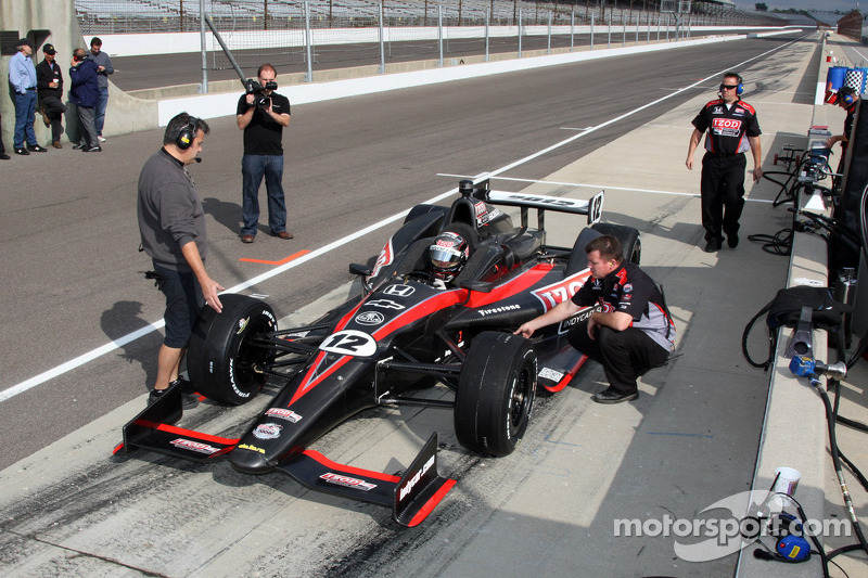 Dan Wheldon tests the 2012 Dallara Indycar