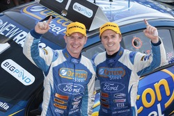 Race winners Mark Winterbottom and Richard Lyons