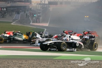 Start of the race, Rubens Barrichello, Williams F1 Team