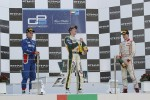 Podium: race winner James Calado, second place Marcus Ericsson, third place Tom Dillmann