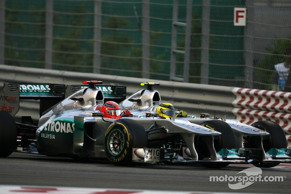 Michael Schumacher, Mercedes GP and Nico Rosberg, Mercedes GP