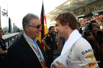 Piero Ferrari with Sebastian Vettel, Red Bull Racing