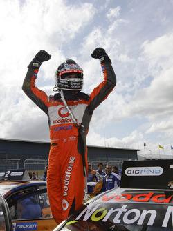 Race winner Jamie Whincup