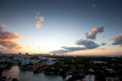 Sunset on Miami Beach