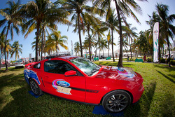 NASCAR Championship Drive in South Beach: Ford Mustang on display